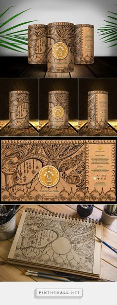 Moroccan Tree Black Soap (Student Project) - Packaging of the World - Creative Package Design Gallery - http://www.packagingoftheworld.com/2017/02/moroccan-tree-black-soap-student-project.html