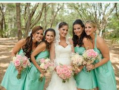 mint & pink wedding. this is my second choice!