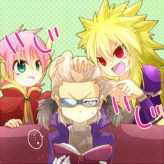 Fairy Tail (フェアリーテイル) - Grimoire Heart - Meredy, Zancrow, & Rustyrose ;)
