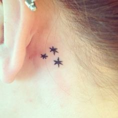 Chapter stars behind my left ear! This was also done at the Rockin' Horse in New Hartford, NY by Abbie.