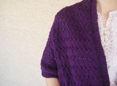 Mercerized Cotton Purple Shawl for 4 Seasons by zuzusworld
