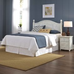 Home Styles Marco Island Wood & Wicker Headboard & Reviews | Wayfair