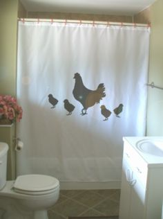 Hen And Chicks Shower Curtain Chicken Mother Baby Love Family Farm Animal Pet Bathroom Decor Bath Curtains Custom Size Long Wide Waterproof