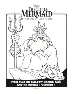 The Little Mermaid Coloring Pages Free Downloads