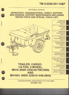 m416  u0026quot jeep u0026quot  trailer information website trailers home wiring diagrams