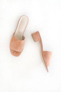 MARYAM NASSIR ZADEH, Sophie Slide, Watermelon Suede | Mr. Larkin