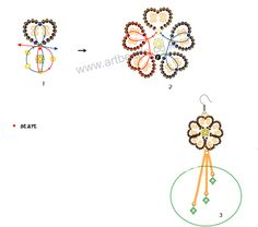seed bead chain patterns   Free pattern schema for earrings Flamy   Beads Magic
