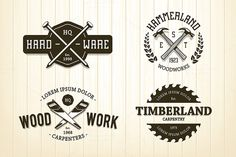 Vintage Carpentry Emblems by Vecster on @creativemarket