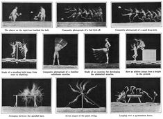 """E.J. Marey, Chronophotographs from """"The Human Body in Action,"""" Scientific American, 1914"""