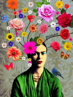 Frida Kahlo is one of the most famous painters in Mexican pop art! Customize your room with these pop art paintings! Frida Kahlo Artwork, Kahlo Paintings, Frida Art, Frida Kahlo Prints, Art Paintings, Mexican Artists, Mexican Folk Art, Pop Art, Art Du Collage