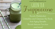 Want to boost your metabolism and increase your energy with a delicious ice cold, refreshing drink? Try this green tea frappuccino recipe!