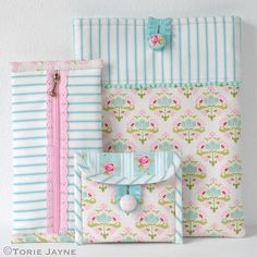 DIY Pretty Sewn Accessories tutorial by Torie Jayne #sewing
