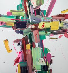 colorful abstract painting by Cambridge artist Wilson Hunt
