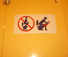 Funny Signs from Around the World: Japanese bathroom-for those of you that are new to this, a little tutorial