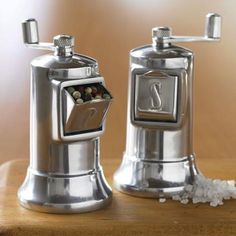 Perfex Salt & Pepper Mills are classic, simple, and functional; made of aluminum with heavy-duty burr grinders at Williams Sonoma.