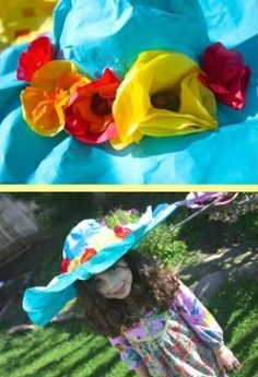Colorful Spring Hat Craft for the Kids from Buggy & Buddy at B-InspiredMama.com