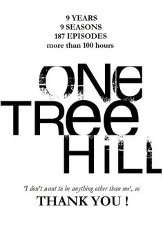 Thank you, OTH. My life has been changed. Forever and always.