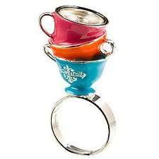 Alice in Wonderland ring - teacups
