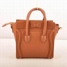 Celine Luggage Mini Bags. 30cm��30cm��17cm. Golden hardware. Double ...