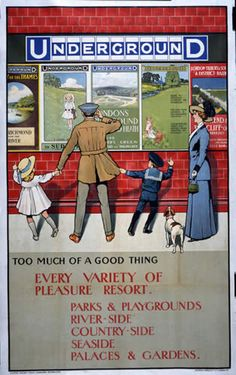 London Underground poster, 1911