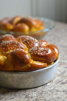 Pumpkin Challah Recipe -Slightly sweet, with a hint of pumpkin spice, this Pumpkin Challah is the perfect sweet bread to serve this holiday season. <br><b>Recipe provided by Red Star Bagels, Chef Recipes, Baking Recipes, Bread Recipes, Pumpkin Recipes, Fall Recipes, Scones, Charcuterie, Jewish Recipes
