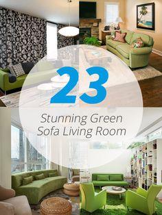 23 Stunning Green Sofa Living Room