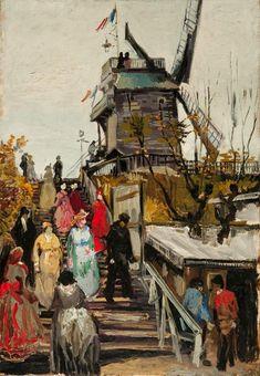 Vincent Van Gogh「Le Moulin de Blute-Fin」(1886)