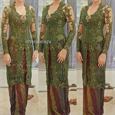 Kebaya hijau Vera Kebaya, Kebaya Dress, Kebaya Brokat, Batik Kebaya, Kebaya Jawa, Baju Kurung Lace, Javanese Wedding, Indonesian Kebaya, Kebaya Muslim
