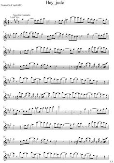 Hey Jude - The Beatles score and track (Sheet music free and playalong) | Free sheet music for sax