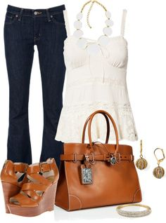"""Ralph Lauren and Wedges"" by lisa-holt ❤ liked on Polyvore"