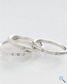 Love these gypsy wedding bands. Although I've been warned one diamond is enough for now!!