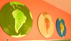 Own old vinyl records and not sure what to do with them?  Remind yourself how easy it is to create your world by painting one.