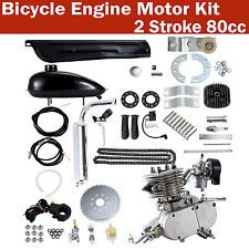 Silver 80cc 2-Stroke Petrol Gas Motor Engine Kit DIY Motorized Bicycle Bike QS Radsport
