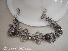 Classic Plum - sterling silver bracelet | Flickr - Photo Sharing!