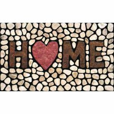 Shoe scraping fibers keep your floors clean Recessed channels trap dirt outside Stain resistant fiber surface keep mat looking good Apache Mills 60-779-1029 Masterpiece Home Stones Doormat, 18-Inch by 30-Inch
