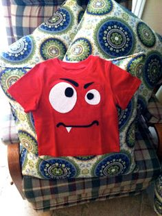 monster shirt for bday boy Monster pic op Pin the eyes on the monster game