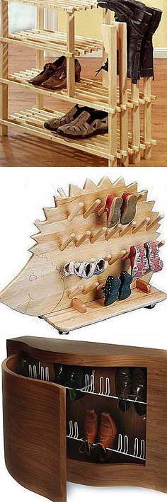Деревянная полка для обуви. Удобная полка для обуви способна преобразить вашу прихожую, и сделать из темного, захламленного не сезонной обувью угла, красивую чистую светлую прихожую.