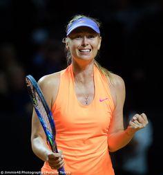 """The sheer joy on face here. Maria Sharapova, Tennis Players Female, Sportswear, Crushes, Joy, Twitter, Face, Photography, Style"