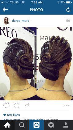 Gorgeous ballroom hair by darya_mart_