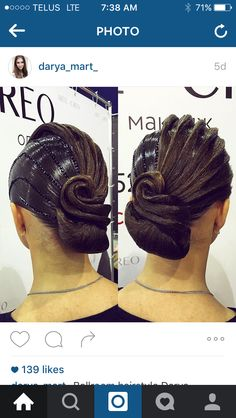 Gorgeous ballroom hair by darya_mart_