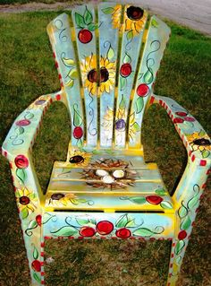 SAMPLE Outdoor Chair by ArtziFartzi on Etsy