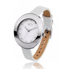 Ladies stainless steel AURA white watches - Xc38