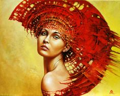 KAROL BAK Gold and blond red