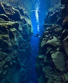 Tectonic Plate Gap Between Europe and America    The Gap Between Two Continents.