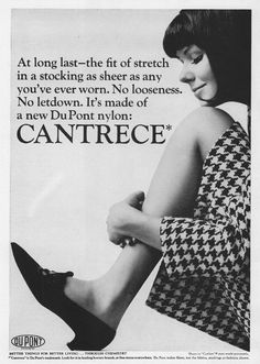 quality design f686c fbbb2 1964 Ad Cantrece Du Pont Women s Nylon Stockings Model~ORIGINAL  ADVERTISEMENT picclick.com Lady