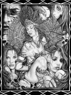 Lowrider Aztec Art | aztec art picture by amaru07 - Photobucket