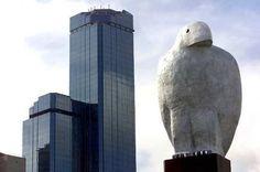 Eagle, by Bruce Armstrong, Wurundjeri Way. Sculpture, Art, Arts And Entertainment, City Art, Bird Sculpture