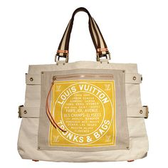 Louis Vuitton Canvas Shoulder Bag Tote | From a collection of rare vintage tote bags at https://www.1stdibs.com/fashion/handbags-purses-bags/tote-bags/