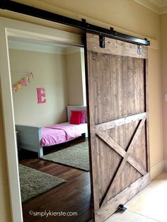 Add the farmhouse style to your home with these sliding barn door ideas! There are so many barn door styles and barn door designs to choose from so use our guide to help you decide the right barn door decor for you. Diy Sliding Barn Door, Sliding Doors, Interior Barn Doors, My New Room, My Dream Home, Home Projects, Sweet Home, New Homes, House Ideas