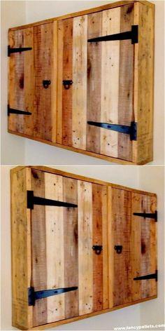 Durable Wood Pallet Cabinet